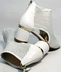 Летние ботинки белые женские Magnolya 3503 56-3 SummerWhite