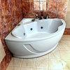 Ванна акриловая Aquatek Галатея  135х135см. на карккасе и сливом-переливом.
