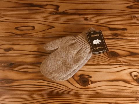 Подростковые варежки из шерсти яка (серые)  фото1