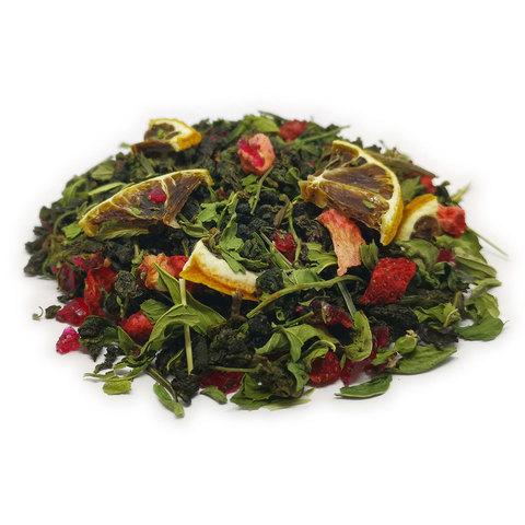 Чай зеленый ароматизированный Клубничный мохито, 50г