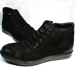 Ботинки мужские зимние кожаные Luciano Bellini 71783 Black.