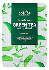 Тканевая маска для лица с экстрактом зеленого чая So Delicious Green Tea Mask Sheet 25 мл