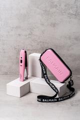 Balmain Hair Беспроводной выпрямитель (розовый) + клатч