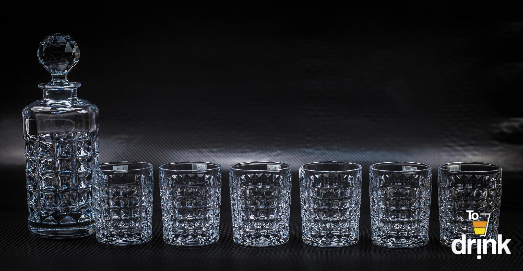 Набор для виски Diamond Bohemia, 1 штоф и 6 стаканов набор стаканов для виски 6 шт bohemia набор стаканов для виски 6 шт