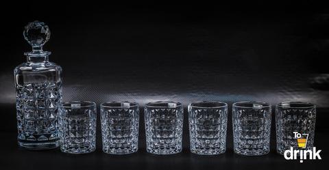 Набор для виски Diamond Bohemia, 1 штоф и 6 стаканов