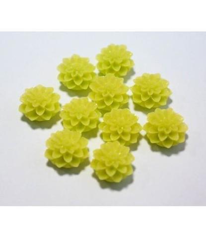 164 стразы цветочки желтые 10 шт