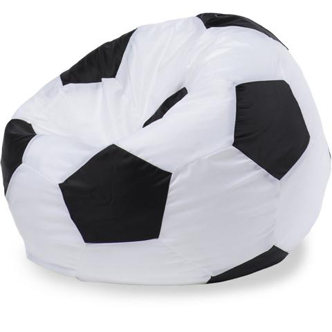 Бескаркасное кресло «Мяч» L, Белый и черный