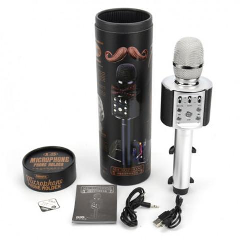 Беспроводной караоке микрофон  REMAX K05(серебро)