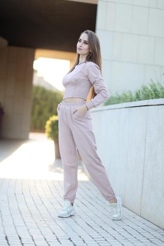 Пудровый спортивный костюм nadya