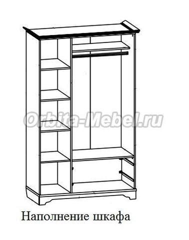 Шкаф 3-створчатый Классика