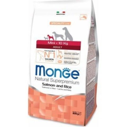 Monge Dog Speciality Mini корм для взрослых собак мелких пород лосось с рисом 800г