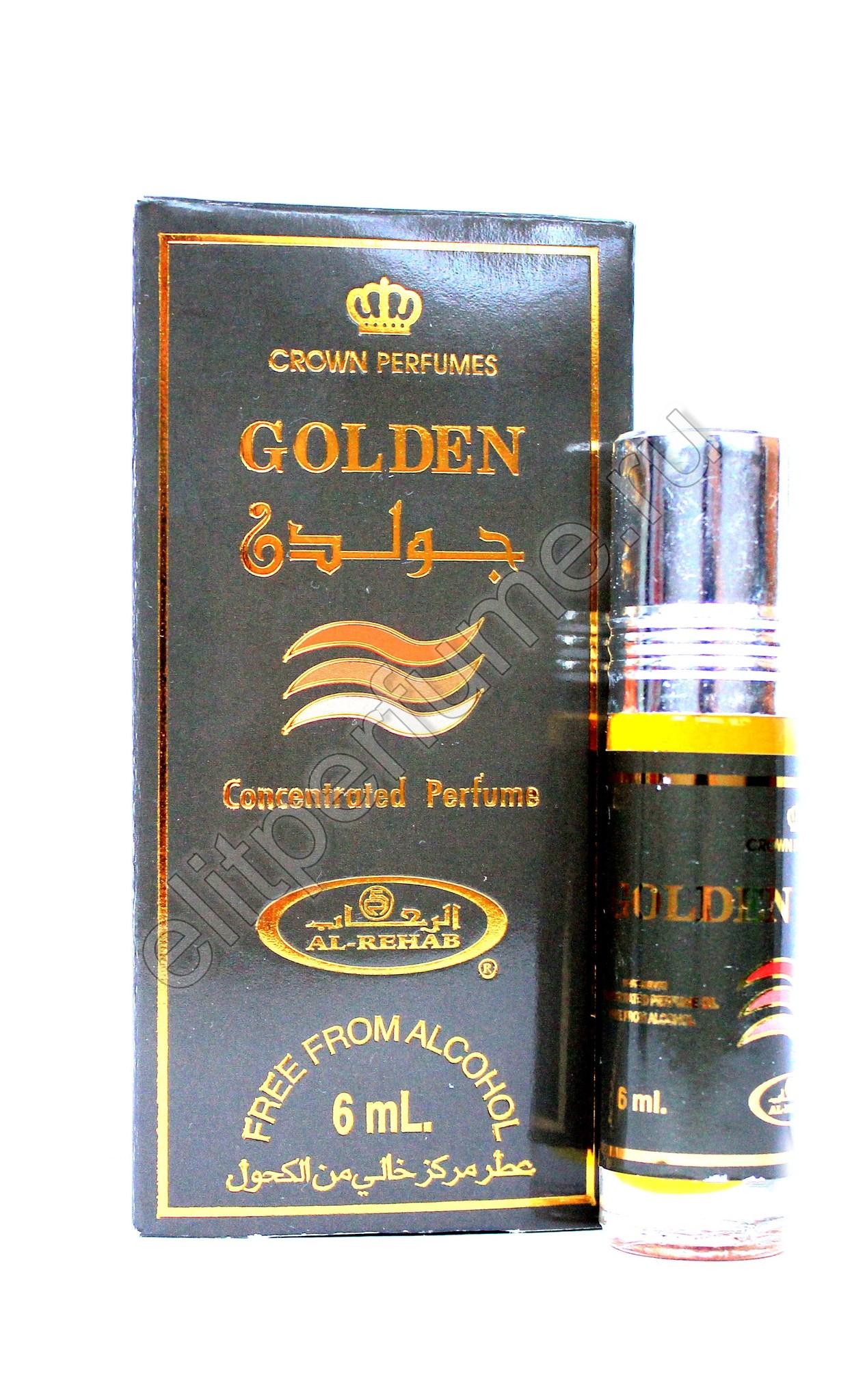 Golden Золотой 6 мл арабские мужские масляные духи от Аль Рехаб Al Rehab