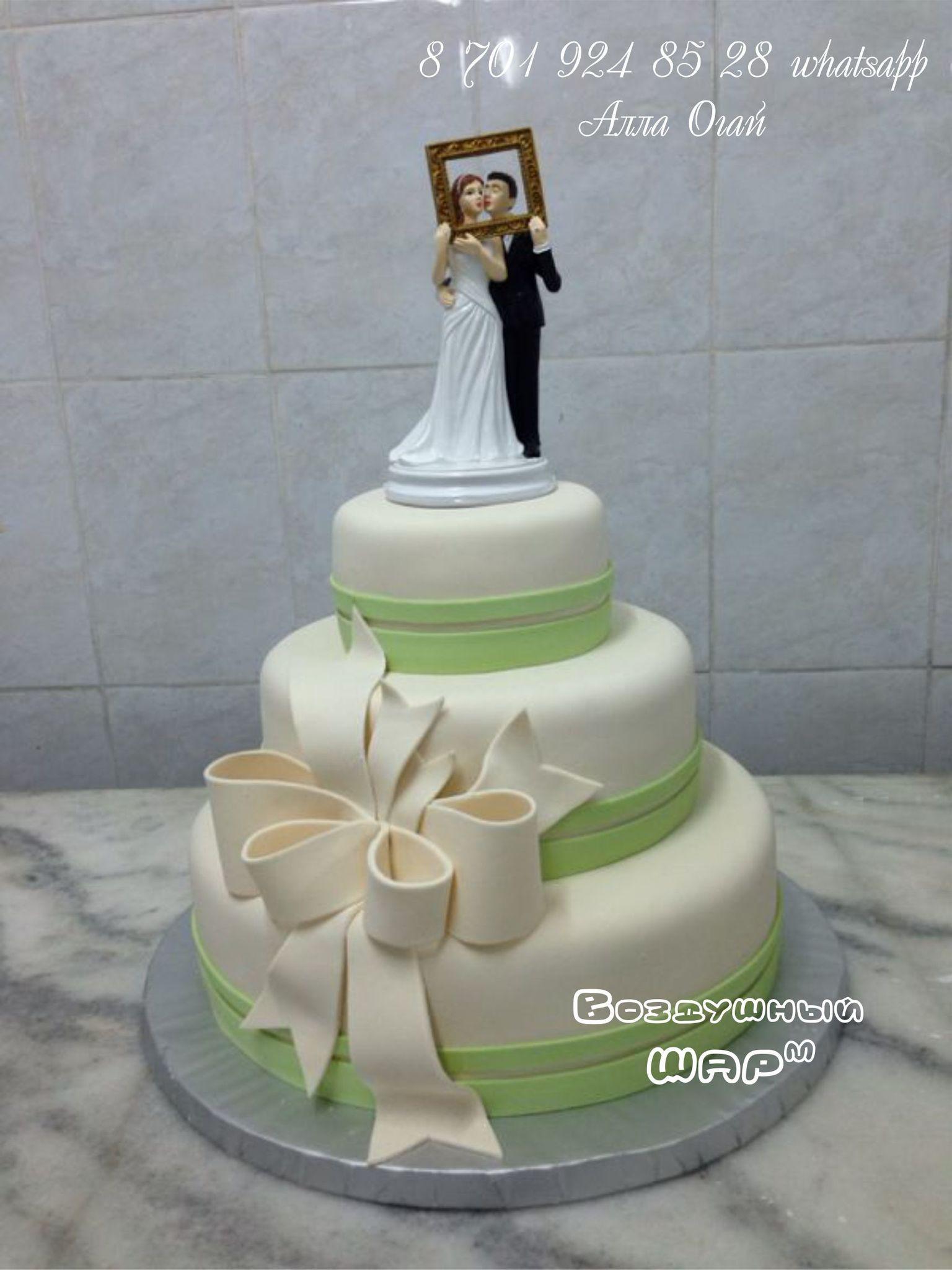 торт на свадьбу с фигурками