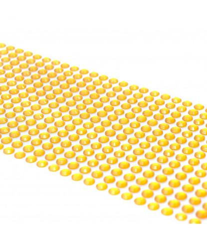 Стразы желтые 5мм длинные