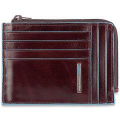 Чехол для кредитных карт Piquadro Blue Square PU1243B2R/MO коричневый натур.кожа