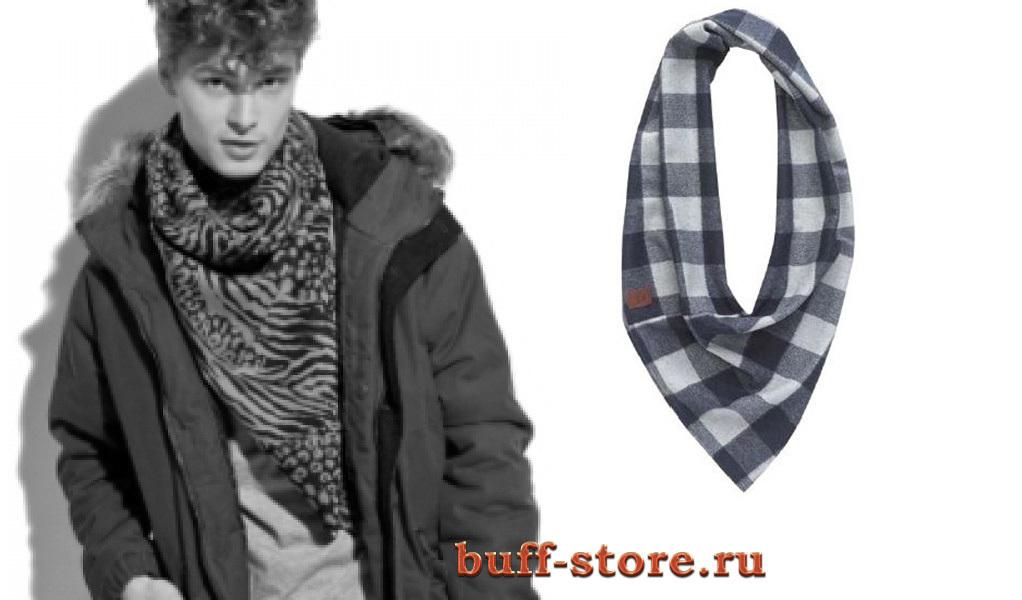 Вязаные шарфы Модный шарф-труба Buff Studio Balance Ensign Blue 13.jpg