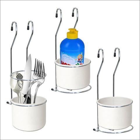 Подставка для столовых приборов навесная на рейлинг