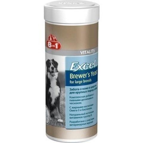 8in1 EXСEL Brewers Yeast пивные дрожжи для крупных собак 80 табл./300 ml