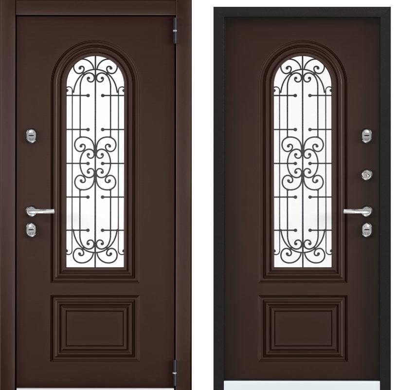 Входные двери Snegir Cottege 02 SNG-2 коричневый 8017 generated_image-3.jpg