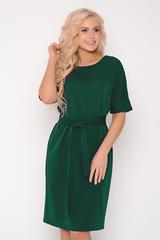 """Современное платье прямого силуэта с поясом по талии. Рукав """"мышь"""" на манжете. Отличный офисный вариант. Длина платья: 46-48- 97см, 50-52-98см,54-99см"""