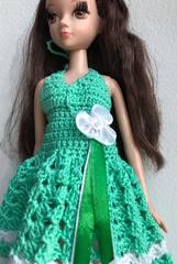 Одежда для кукол Барби Сверкающий изумруд