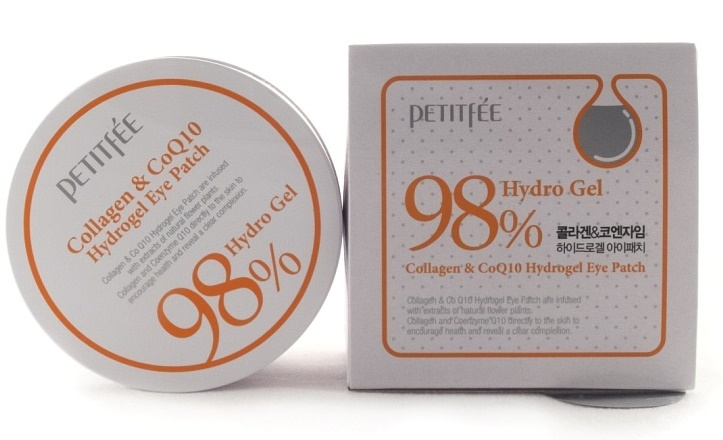 Патчи для глаз Petitfee Collagen & Q10 Hydrogel Eye Patch