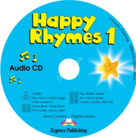 Jenny Dooley, Virginia Evans Happy Rhymes 1 (аудиокурс CD)