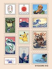 Набор стикеров Japan