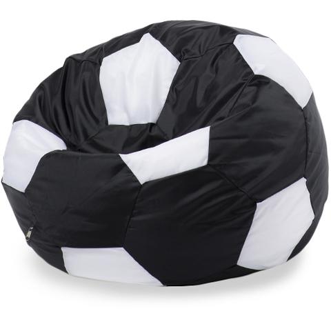 Бескаркасное кресло «Мяч» L, Черный и белый