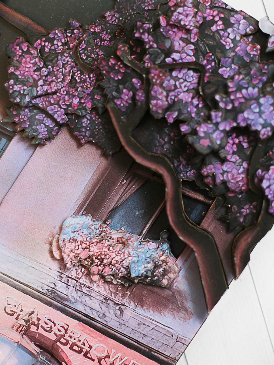 Папертоль Танец под звездами - готовая работа, детали деревьев