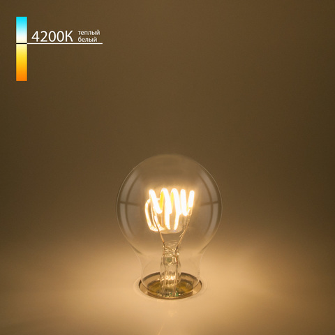 Филаментная светодиодная лампа A60 6W 4200K E27 Classic FD 6W 4200K E27
