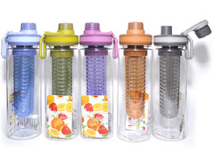 Бутылка для воды. Материал: пластик, силикон. Объём 700ML. YY-113