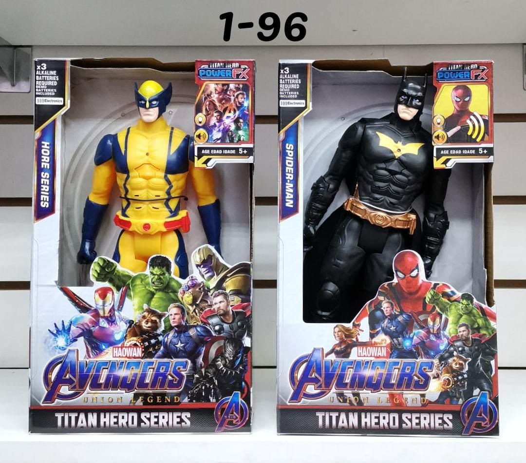 Два супергероя Росомаха и Бэтмен 30 см