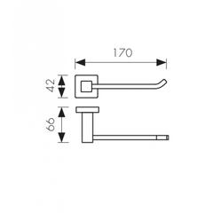 Держатель для туалетной бумаги KAISER Canon KH-2320 схема