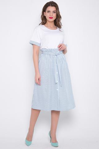 <p>Ульта модная юбка на резинке с поясом и функциональными карманами. Отлично сочетается с майкой, с аналогичной отделкой.&nbsp;(Длины: 44-50= 75 см)&nbsp;</p>