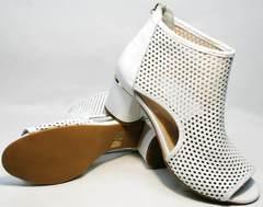 Вечерние босоножки на устойчивом каблуке Magnolya 3503 56-3 SummerWhite