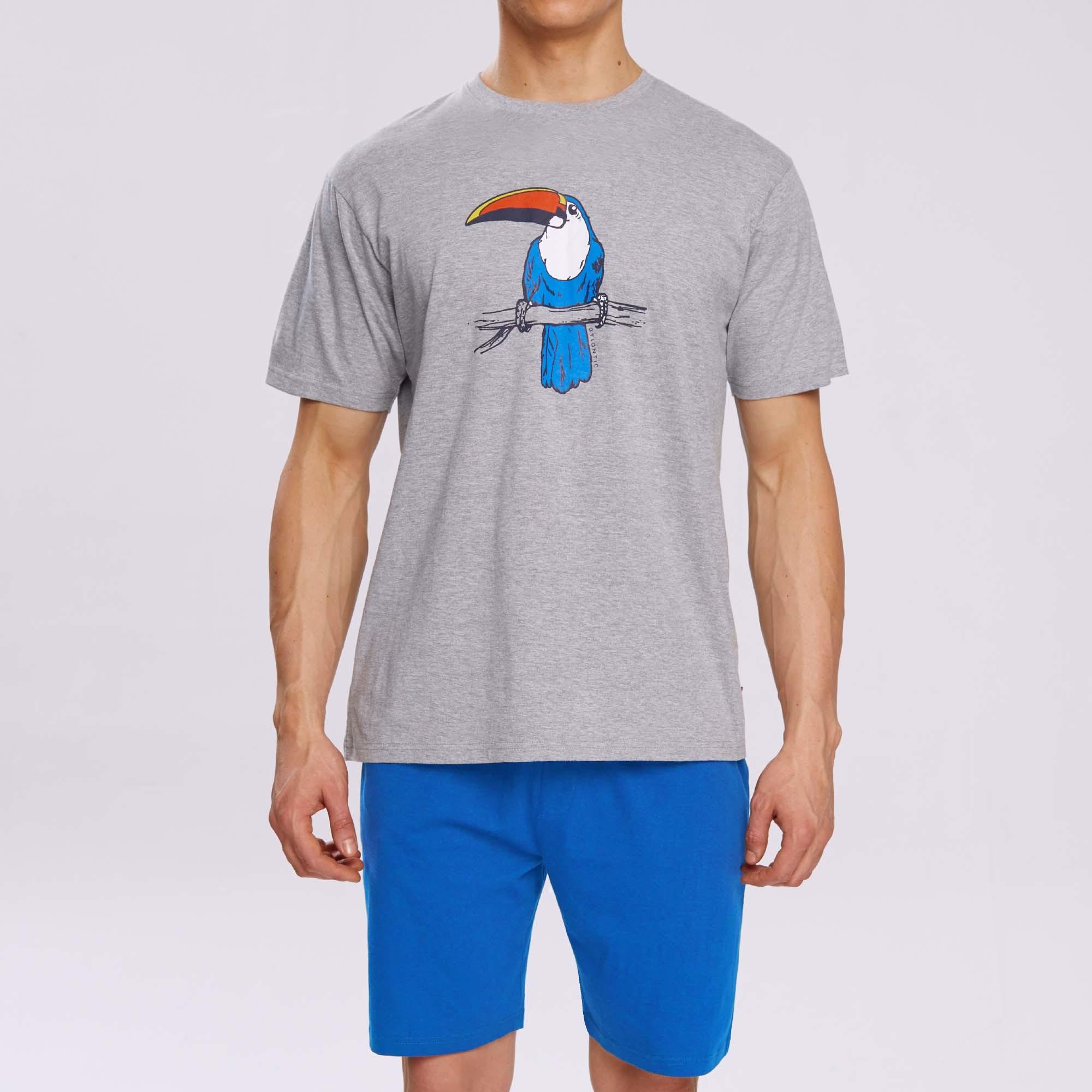 Пижама мужская с шортами NMP-317 100% хлопок