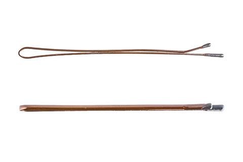 Невидимки Y.S. Park 65 мм коричневые 14 шт
