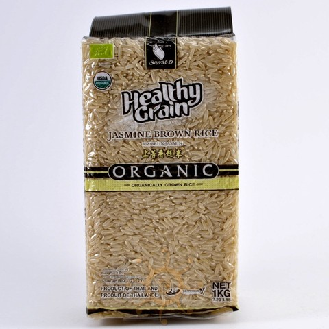 Органический тайский коричневый рис жасмин SAWAT-D, 1кг