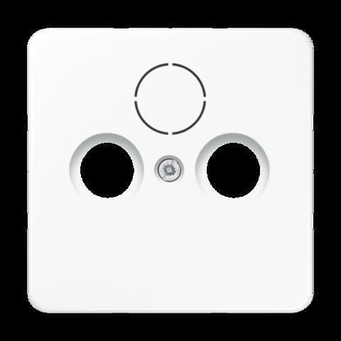 Накладка  двойная/тройная для антенных розеток. Цвет Белый. JUNG CD. CD561SATWW