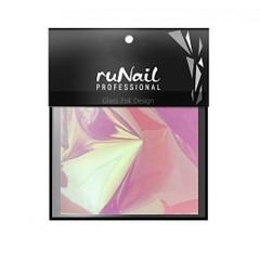 RuNail с эффектом битое стекло 4х100 см цвет розовый арт 3148