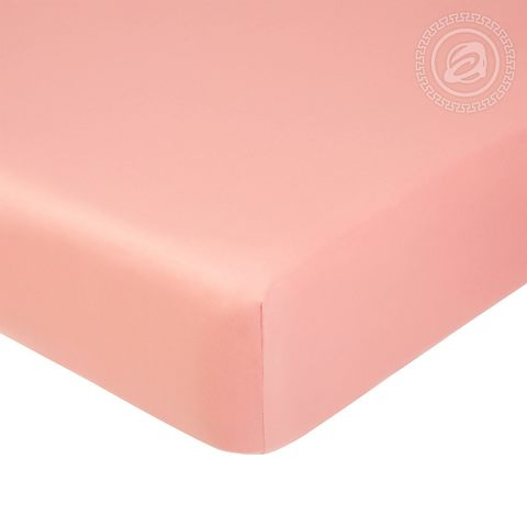 Простыня на резинке  Сатин  Розовый