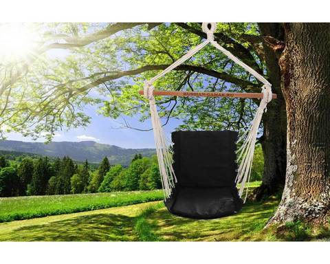 Гамак кресло из льна с поролоновыми вставками черный RGK4CHER