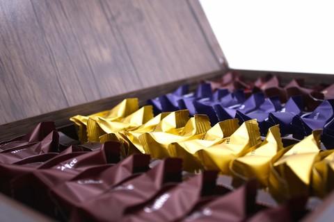 """Ассорти пишмание в подарочной деревянной упаковке """"Чашка Кофе"""", Hajabdollah, 500 г"""