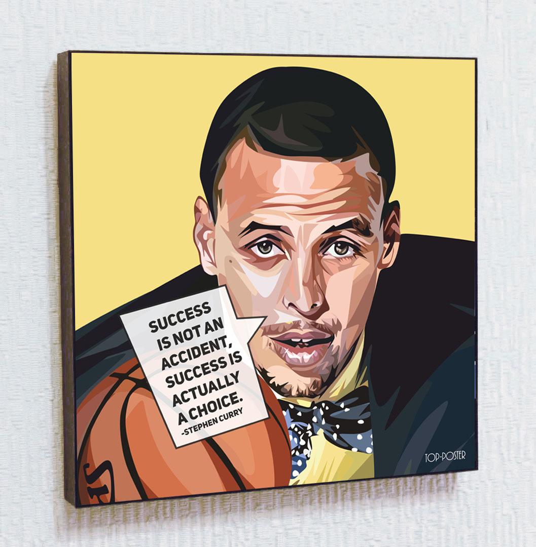 Картина Стефен Карри в стиле ПОП-АРТ