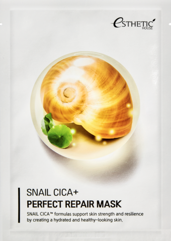 ESTHETIC HOUSE SNAIL CICA+ PERFECT REPAIR MASK маска для лица,25 мл
