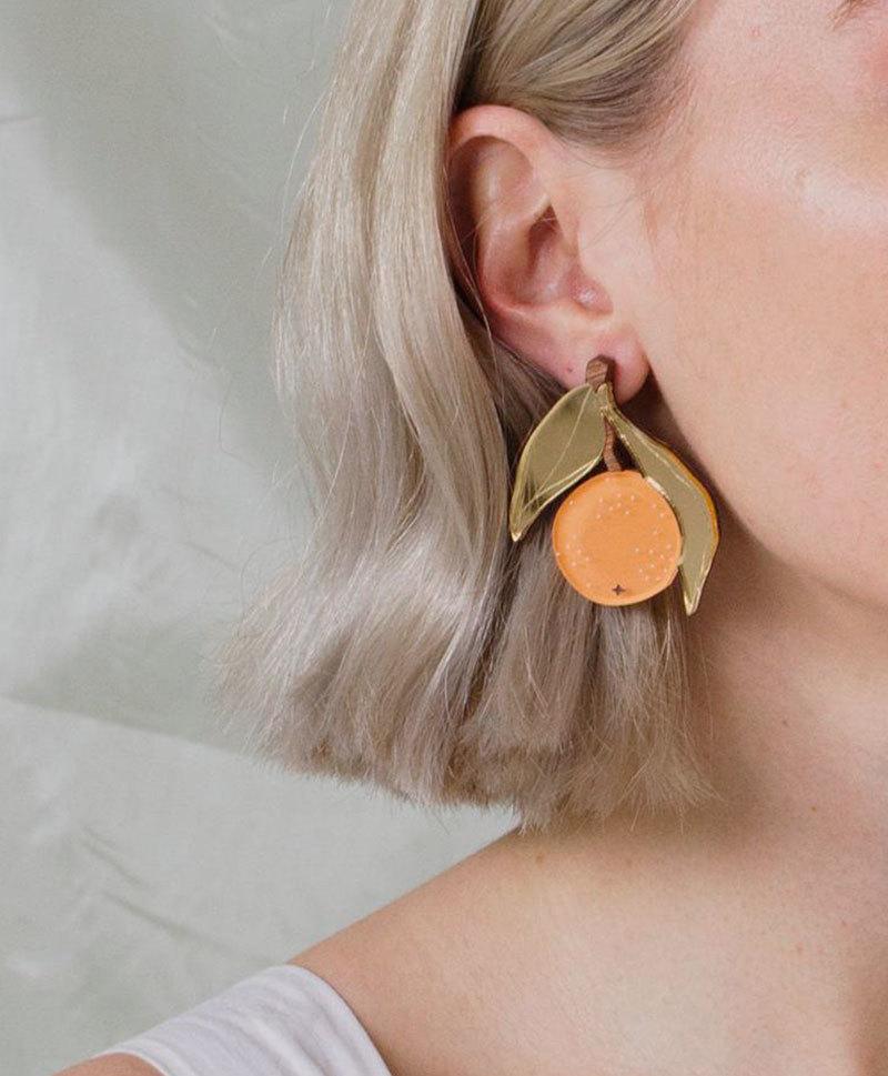 Серьги Orange Earrings