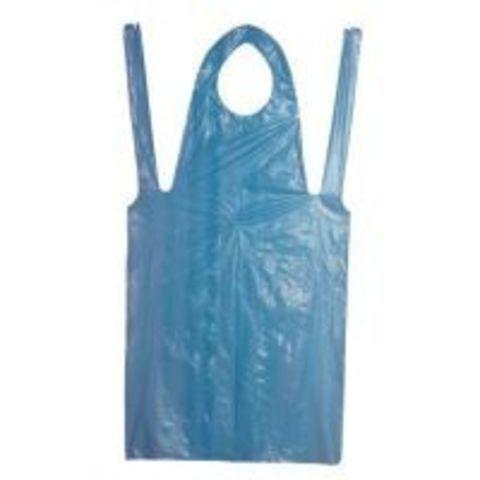 Фартуки защитные синие ПЭ 120х76, 100 шт/уп