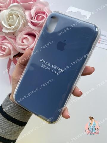 Чехол iPhone X/XS Silicone Case /alaskan blue/ морской лёд 1:1