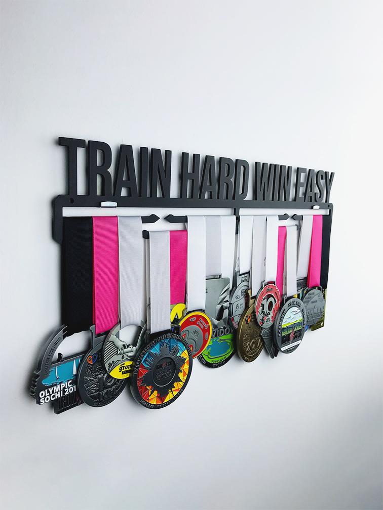 Медальница Train hard win easy